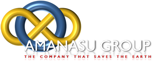 (Company Logo) Amanasu Group. The Company that cleans the Earth